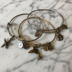 🔥 Bundle of 3 Alex and Ani Charm Bangle Bracelets